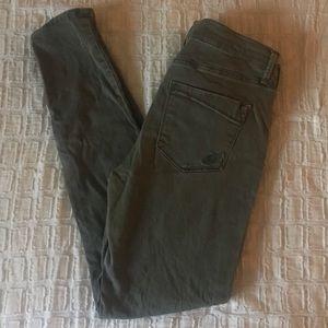 Express Pants - Express Size 8 Olive Skinny Jegging
